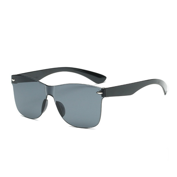 Rimless Integrated Sun Glasses Vintage One Piece Glasses Sunglasses Nail Decoration Men Women Rimless 6colors LJJS174