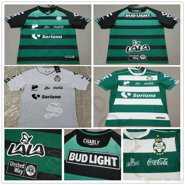 2019 2020 Liga Mx Club Santos Laguna Soccer Jersey Home Green Away Black White Jerseys 19 20 Thailand Quality Customize Adult Football Shirt