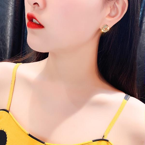 MoMo Geometrische Alloy silberne Nadel Mädchen-Weinlese-Metallohrring für Frauen-Charme-Gold-Farben-Ohrringe Weihnachtsgeschenk Schmuck