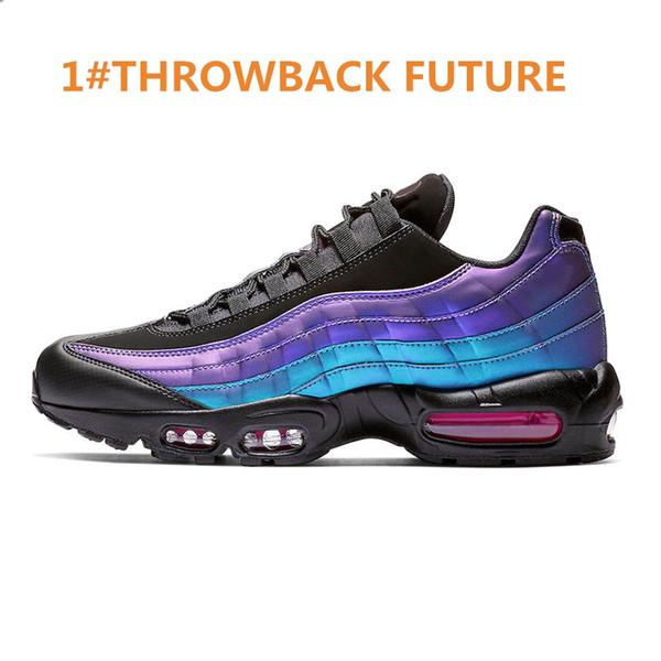 Acheter Nike Air Max 95 2019 Nouvelle Arrivée Chaussures De Course Pour Homme Plant Couleur Throwback Future Blanc Noir Neon Ewomens Mens Baskets De