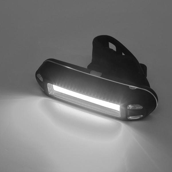 Şarj edilebilir 1200mAh Beyaz Işık, Kırmızı Arka Işık Uyarı USB Dağ Bisikleti Taillight Siyah Güvenliği LED