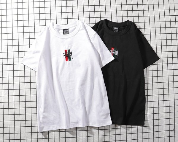 4ab2860f Thrasher 19SS mens t shirts stussy Letter Embroidery hip hop tees fear of  god mens womens