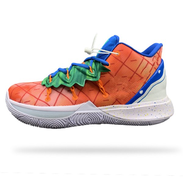 2020 New Boy Hommes Chaussures de basket Kyrie V 5 All-Star Orange Ananas Irving égyptienne Couleur des jeunes 5S Sport Formation Baskets cheville