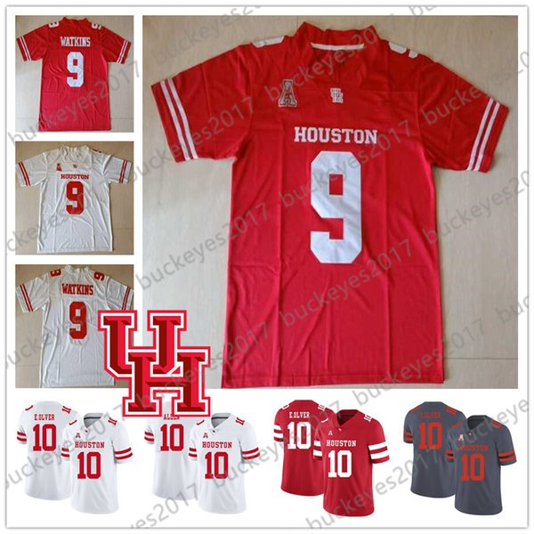 NCAA Houston Cougars Gray Red White Men Youth Kid UH Jerseys #2 Keith Corbin 5 Marquez Stevenson 9 Courtney Lark Nick Watkins S-4XL