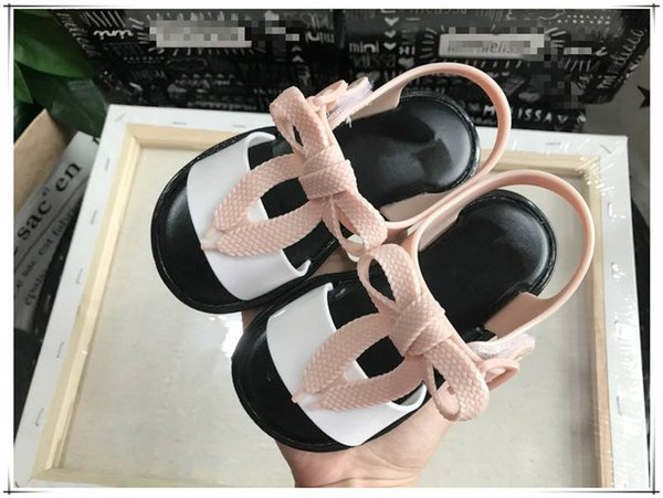 2019 Summer new kids shoes kids designer shoes Girls Sandals Fashion princess toddler Sandals baby shoes sweet jelly Girls shoe A2530