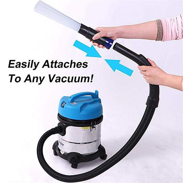 ENVÍO GRATUITO Limpiador de polvo para el hogar Tubos de paja Removedor de cepillo para polvo Herramientas portátiles de vacío universales Accesorio Dirt Clean Soporte Dropshipping