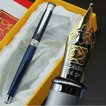 Picasso brand blue Raised fountain pen stationery school office supplies Luxury writing birthday gift ink pens