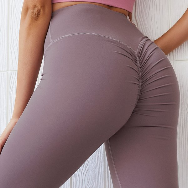 best selling 2019 Women's Leggings High Waist Push-Up Hip Compression Stretchy Yoga Workouts Running pants Capri Tight