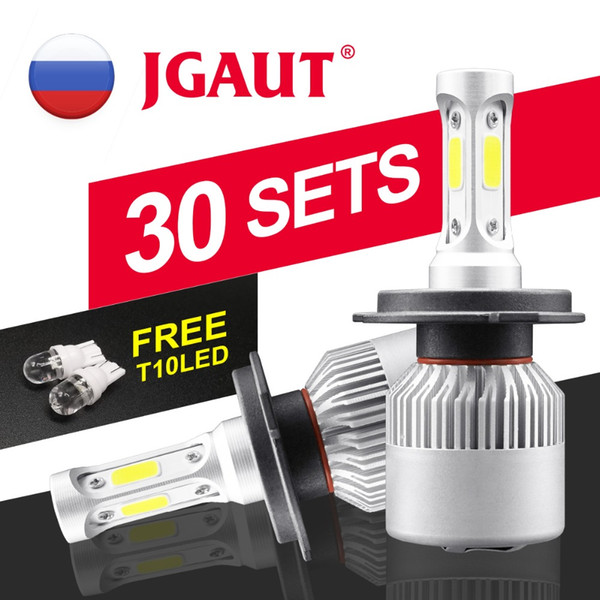 60 Pieces Promotion ! H7 LED H4 Headlight S2 COB 72W 8000LM Car Headlamp Fog Light Automotive 6500K 12V 24V Hi Low Beam