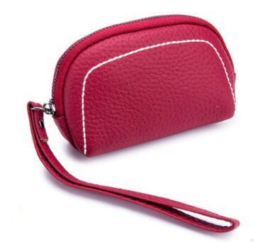 new Genuine Cowhide Leather Coin Purse women Zipper Small Wallet women Change Purse Money Bag Mini Zero Wallet