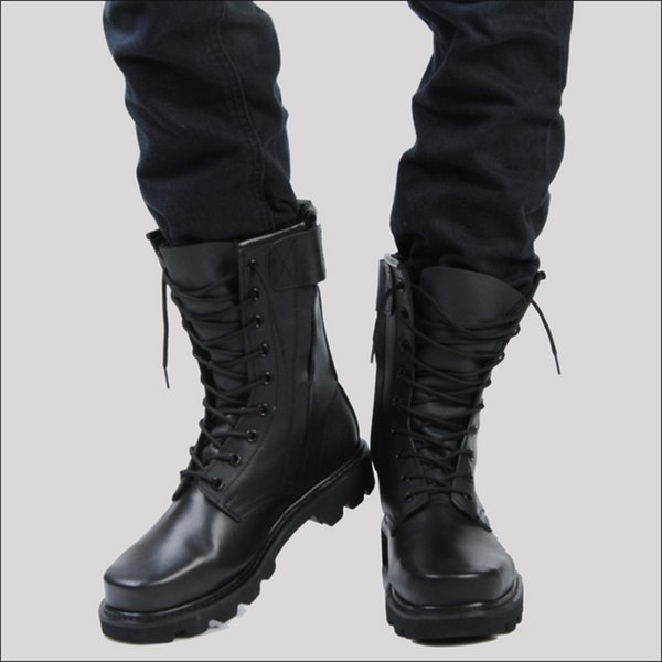 BootsKnee From Size Lemmom88 Plus Steel And Genuine 93Dhgate Leather Boots Riding com High Tooling Male Combat Head uTZiOPkX