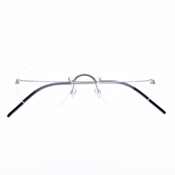 Belight Optical Denmark Brand Mens Ultra Light screwless nickel free rimless Titanium Eyeglasses Frame Men Prescription Spectacle Glasses