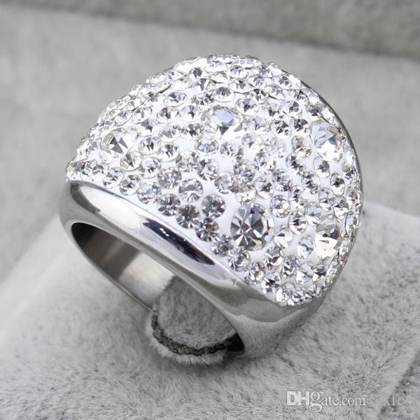 2017 Yeni erkekler ve kadınlar için alyans baeatiful titanyum çelik benzetilmiş elmas yüzük Yüksek kalite moda trendi Tatil hediyeler