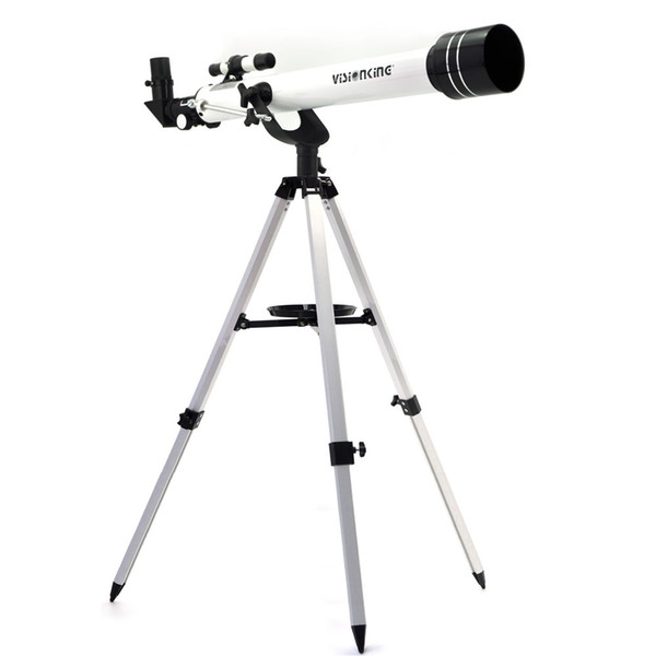 Visionking 60 700 (60/700mm) White Space Refractor Astronomical Telescope Moon Jupiter Watching With Tripod Good Quality