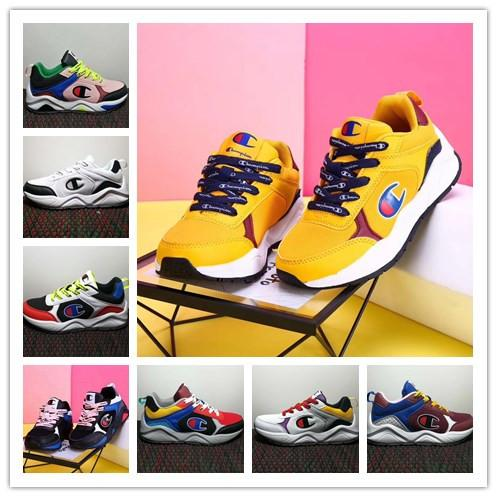 2019 Champion Suede Leather boys girls Fashion Sports Sneakers Trainers Casual Shoes Chaussures pour enfants kids designer shoes boys
