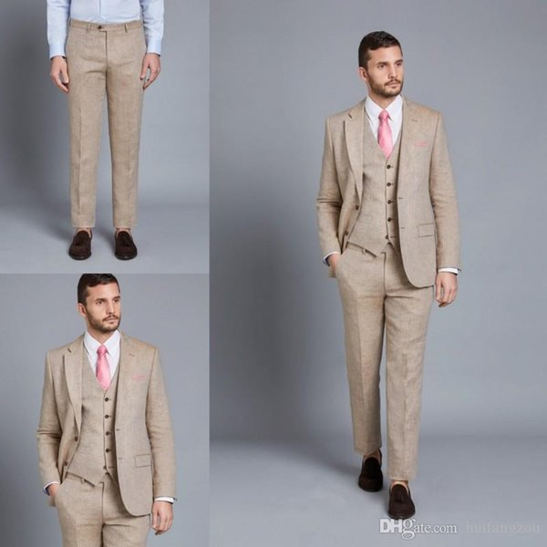 2019 Mens Formal Suits Vintage Three Pieces Slim Fit Groom Tuxedos Best Man Suit for Weddings Business Men Suits