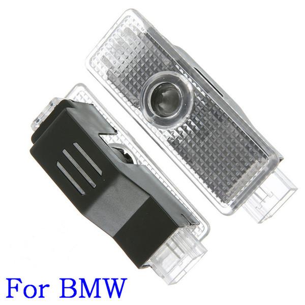 2 Adet Araba LED Kapı Hoşgeldiniz Logo Lazer Projektör BMW Audi Için Hayalet Gölge Işık araba logosu karşılama ışığı