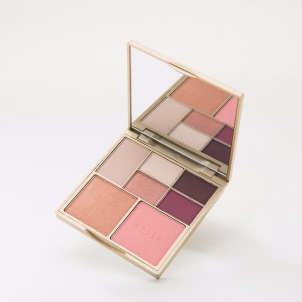 Hot brand Stila 7 Color Perfect MEdium Tan Eye Shadow Palette Face Blush Bronzing Powder Cosmetics DHL free shipping