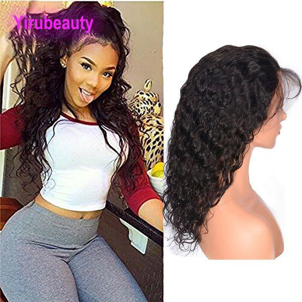 Péruvien Cheveux Humains Avant de Lacet Perruques Eau Vague Couleur Naturelle Avant de Lacet Avec Des Cheveux De Bébé Pré Arraché Avant De Lacet Perruque 8-30 pouces