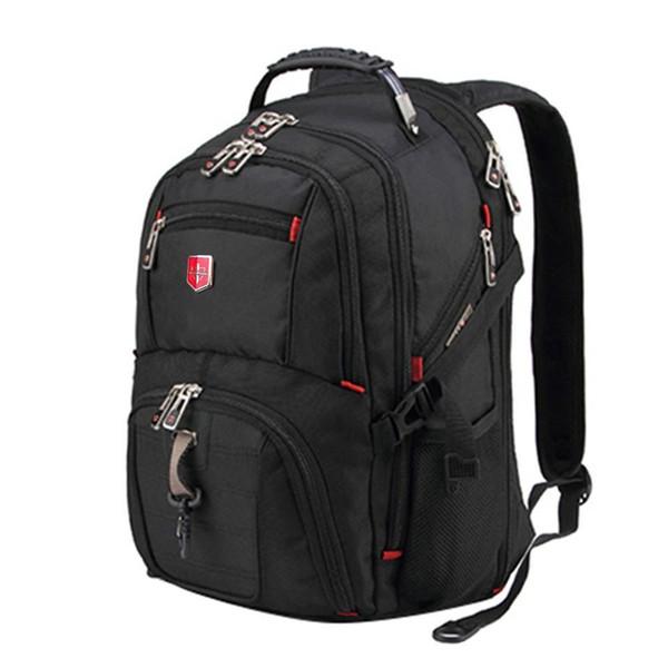 Swiss Mens Backpack 15.7/17 Inch Computer NotSchool Travel Bags Unisex Large Capacity Bagpack Waterproof Business