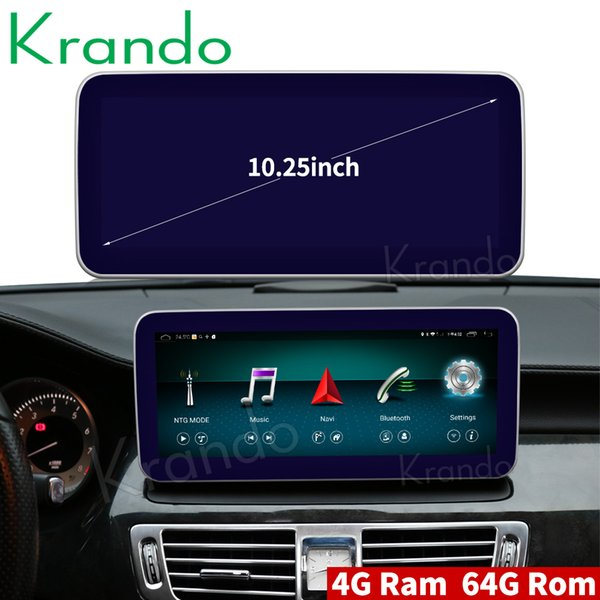 Krando Android 8.1 10.25'' car radio navigation for Benz CLS Class W218 2011-2013 multimedia player audio DVD bluetooth stereo car dvd