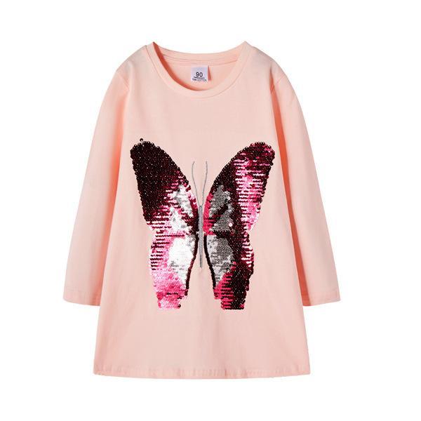 lentejuelas de color rosa mariposa