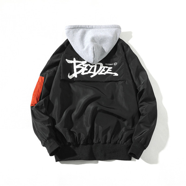 Zogaa Jackets Men 2019 Spring New Fashion Brand Design Street Printing Windbreaker Jacket Mens Hip-Hop Hooded Jackets Coats