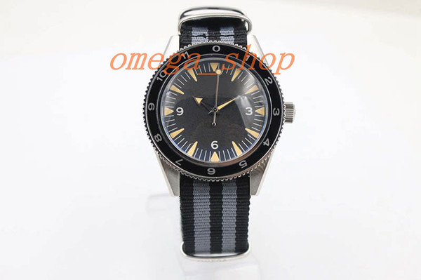Best selling classic luxury designer watch brand coaxial table transparent back cover automatic mechanical sapphire mirror nylon strap