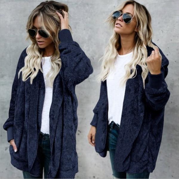 Новый дизайнер Пальто из искусственного меха. Комфортное пальто класса люкс. Двухстороннее зимнее пальто. Женское теплое и модное пальто с капюшоном (размер S-3xl).