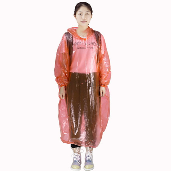Disposable PE Raincoat Fishing One Time with Hat Raincoats One-time Poncho Rainwear Travel Rain Coat Rain Wear Travel Rain Coat Adult
