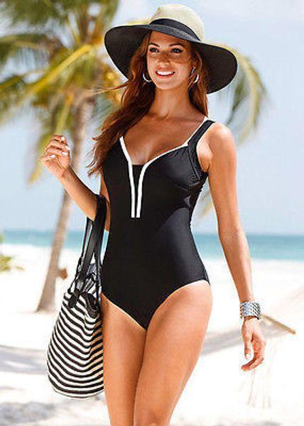 Plus size S-4XL Donna Sexy One Piece Scollo a V Bodycon Monokini Costume da bagno Fasciatura Push Up Costumi da bagno Monokini Costumi da bagno Costume da bagno