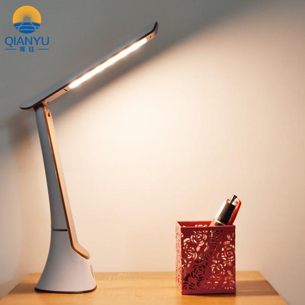 QIANYU Lampada da tavolo ricaricabile portatile dimmerabile intelligente LED Eye Light Lampada da lettura pieghevole Batteria al litio di grande capacità