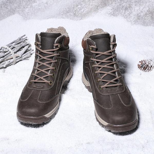 2018 hombres zapatos de invierno hombres de felpa caliente antideslizante botas para la nieve de moda más terciopelo para los hombres más el tamaño 39-47