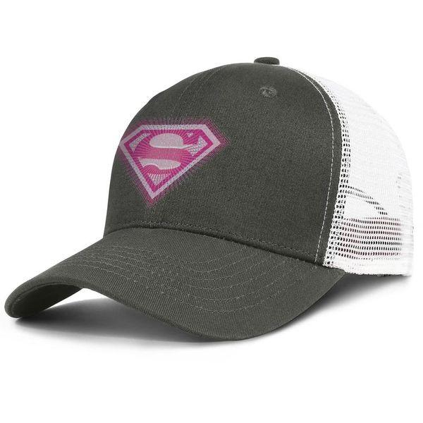 2015 superman supergirl pink logo army_green for men and women trucker cap baseball styles custom vintage hats