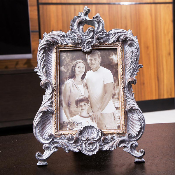 Vintage Relief Photo Frame Europe Resin 6 Inch 7 Inch Picture Frames for Living Room Tabletop Home Decor Shop Picture Display