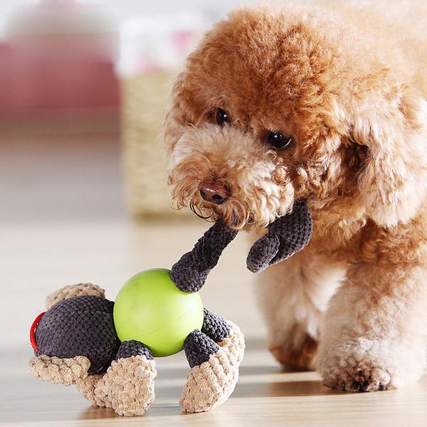Hot popular cute pet voice toys Golden hair Teddy vocal cloth velvet dog toys multi style