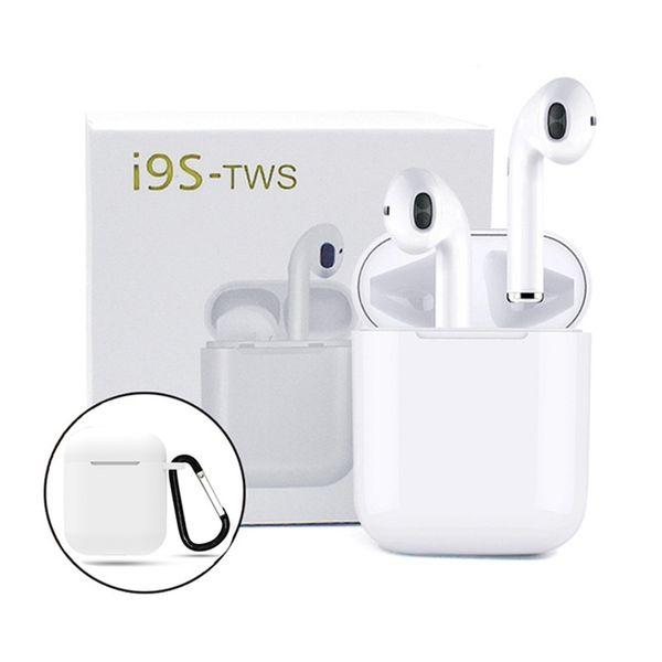 i9s tws écouteurs Mini sans fil Bluetooth écouteurs pour android iPhone Bluetooth Headset v5.0 casque avec boîte de charge magnétique