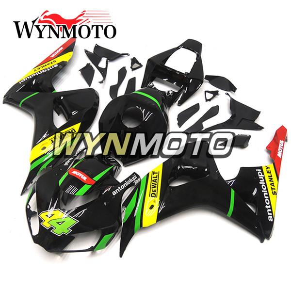Kit de carenado de motocicleta de panel de moldeo por inyección ABS completo para Honda CBR1000RR 2006 2007 06 07 Cowlings-Yellow Black con NO.44