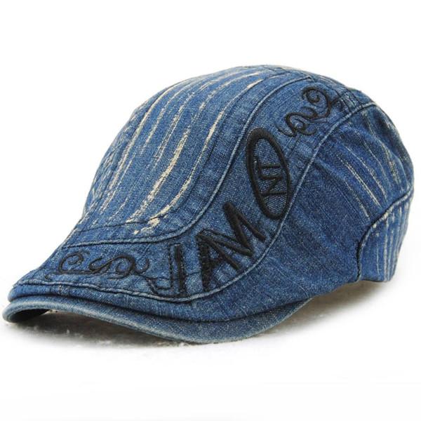 Jamont Fashion Denim Beret Hat Men Cowboy Hats Planas Flat Caps Berets Unisex Women'S Beret Hat Caps For Men And Women