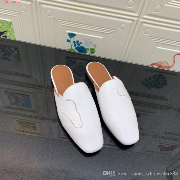 Neue Mode Frauen Schuhe Landebahn Stil High-End-Hausschuhe aus Rindsleder Stuffies bequem atmungsaktive Hausschuhe