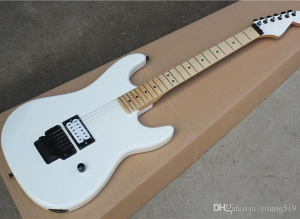 Custom Shop White Floyd Rose Electric Guitar With Humbucker Pickup, Maple  Key, Black Hardware, Custom Service  The Real Picture Is Displayed Best