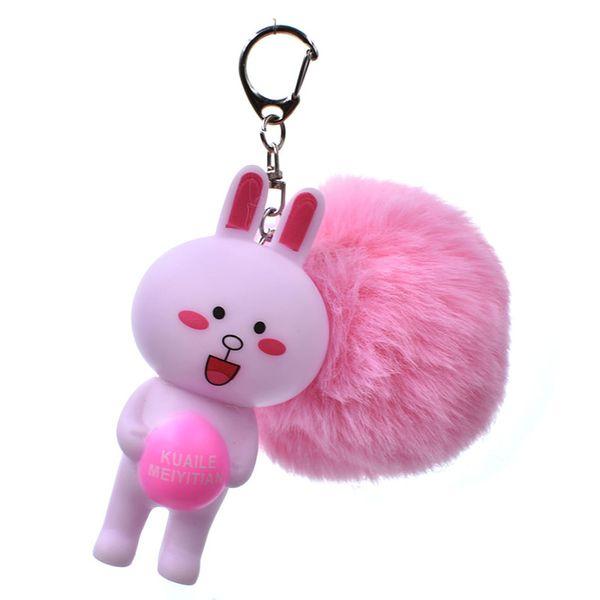 Cute White Rabbit Keychain Pompon Avengers Schlüsselanhänger Schmuck Fellknäuel Schlüsselanhänger Flauschiger Pom Pom Schlüsselanhänger Damen Autotasche Schlüsselanhänger