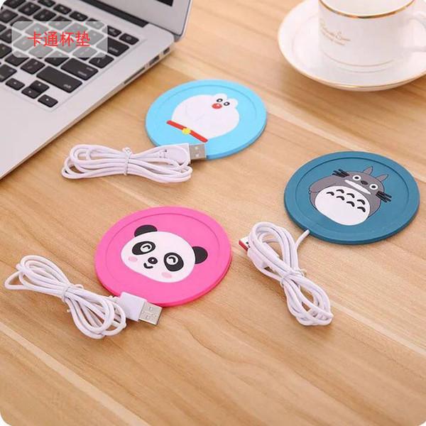 USB Electronics Heat Cup Warmer Coaster Office Tea Coffee Mug Warmer Desktop Mug Hot Drinks Beverage Cup Mat Pad