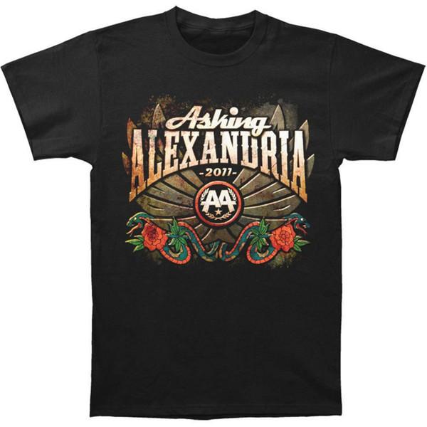 T-Shirt Design engraçado site Perguntar Tripulação Winged Cobra Neck manga curta Mens dos homens Alexandria Hip-hop camiseta