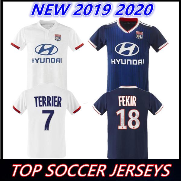 02fc84d9e3b Olympique Lyonnais soccer jersey 2019 2020 football shirt TRAORE MEMPHIS  FEKIR OL 19 20 home away