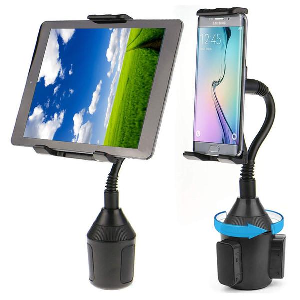 360-Grad-Handyhalterung Auto Cup Holder Mount 2-in-1-Auto Cradles einstellbare Schwanenhals-Halterungen für iPad iPhone x max 8 plus Apple Tablet