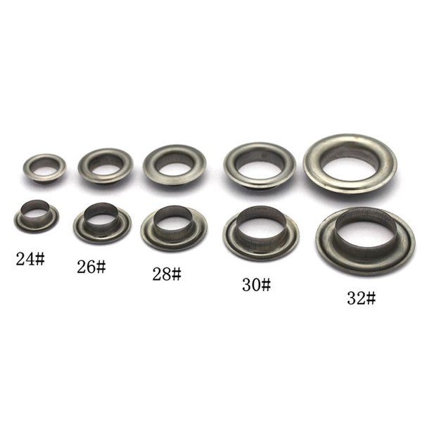 18mm(inner) eyelets grommets with washers Metal Grommets rivets metal eyelets for canvas leather craft shoes