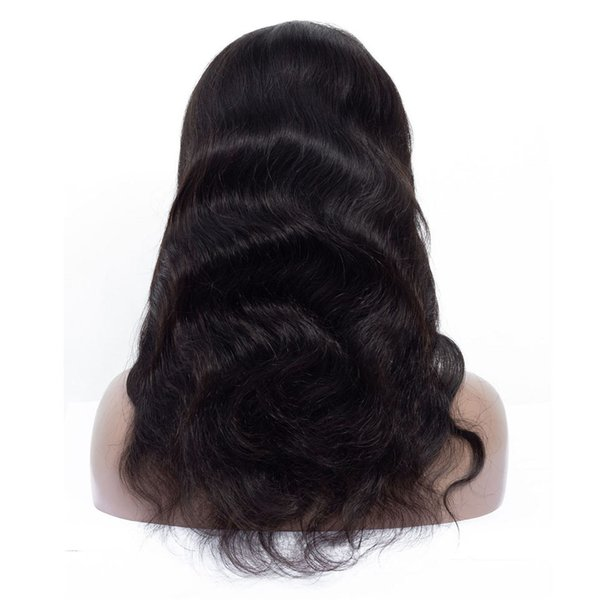 Fashion Natural Star Style Real People Shine Smooth And Smooth Knotted Black Long Hair Can Be Made To Bend Half Lace Headgea