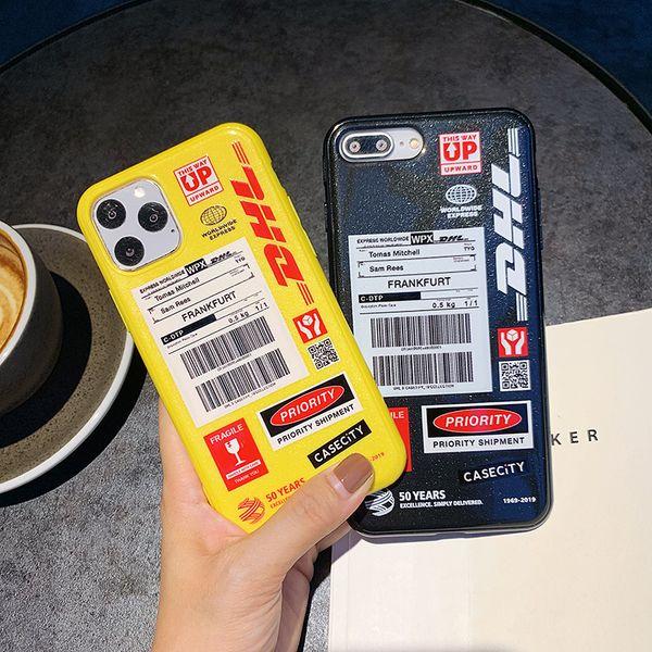 Case Cover Lettera inglese DHL del telefono per IPhone 11 Pro Max 8 7 6 6s plus casse del telefono la copertura posteriore