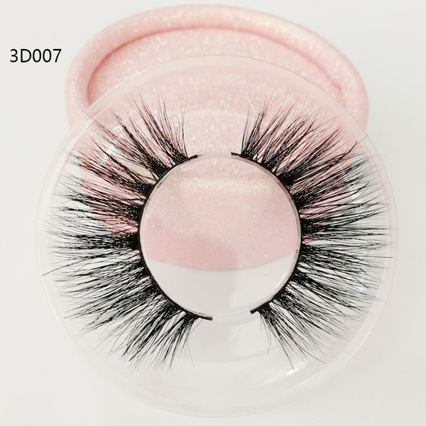 High quality wholesale 3D true mink hair eyelashes Messy Cross Thick Natural lashes winged lashes Fake Eye Lash clear box private label